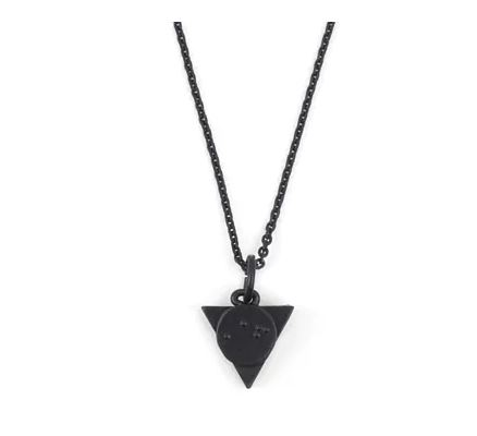 Recovery 黑色系列-点字三角项鍊 雾黑色