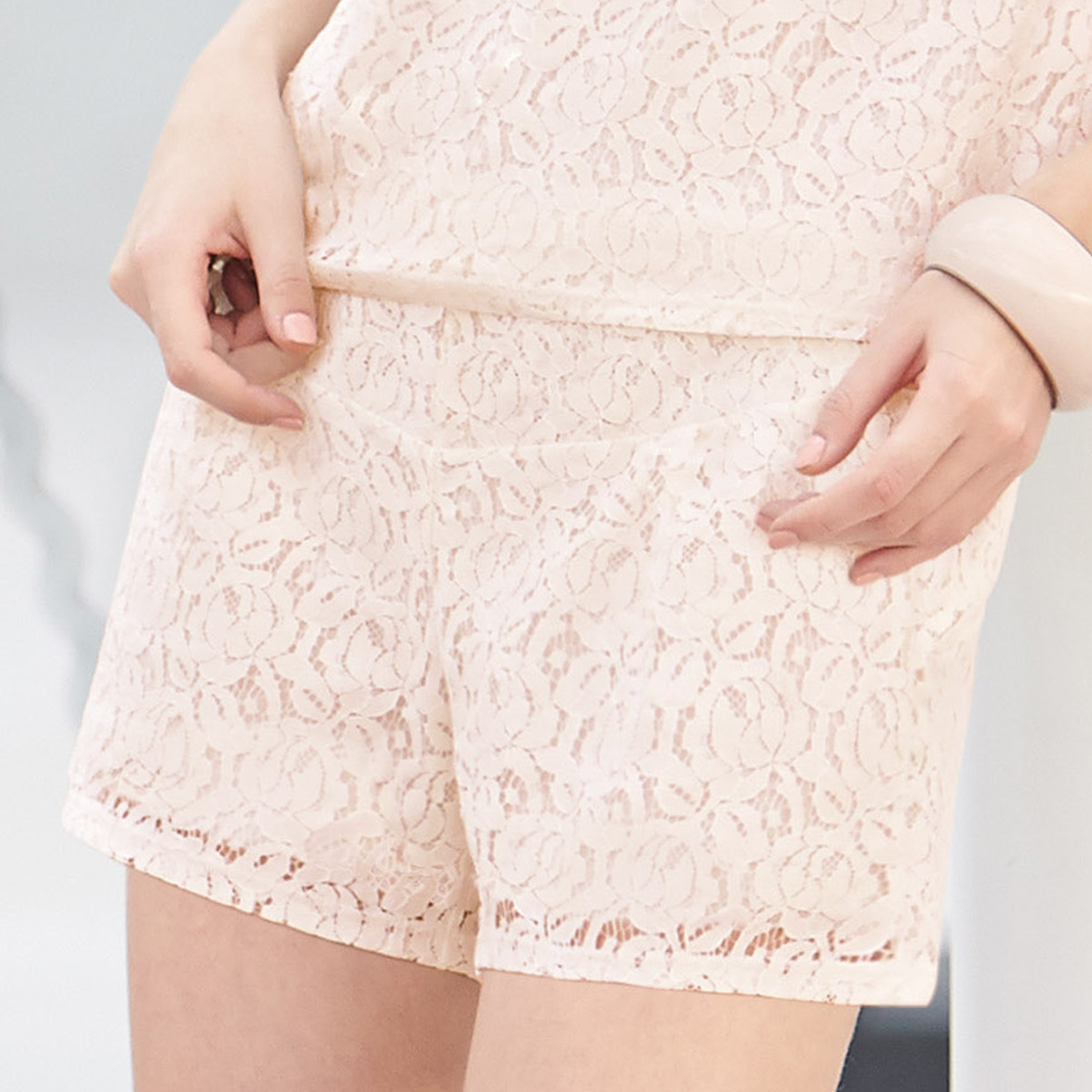 【曼黛玛琏】Marie One蕾丝短裤(古董粉)