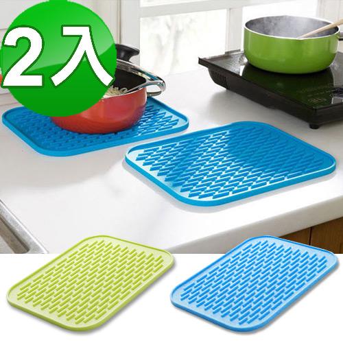 炫彩万用隔热垫、防滑垫、杯垫 (2入)(随机色)