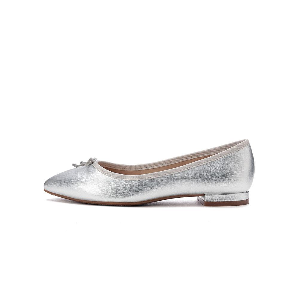 LisaVicky浪漫芭蕾舞平底鞋-银色