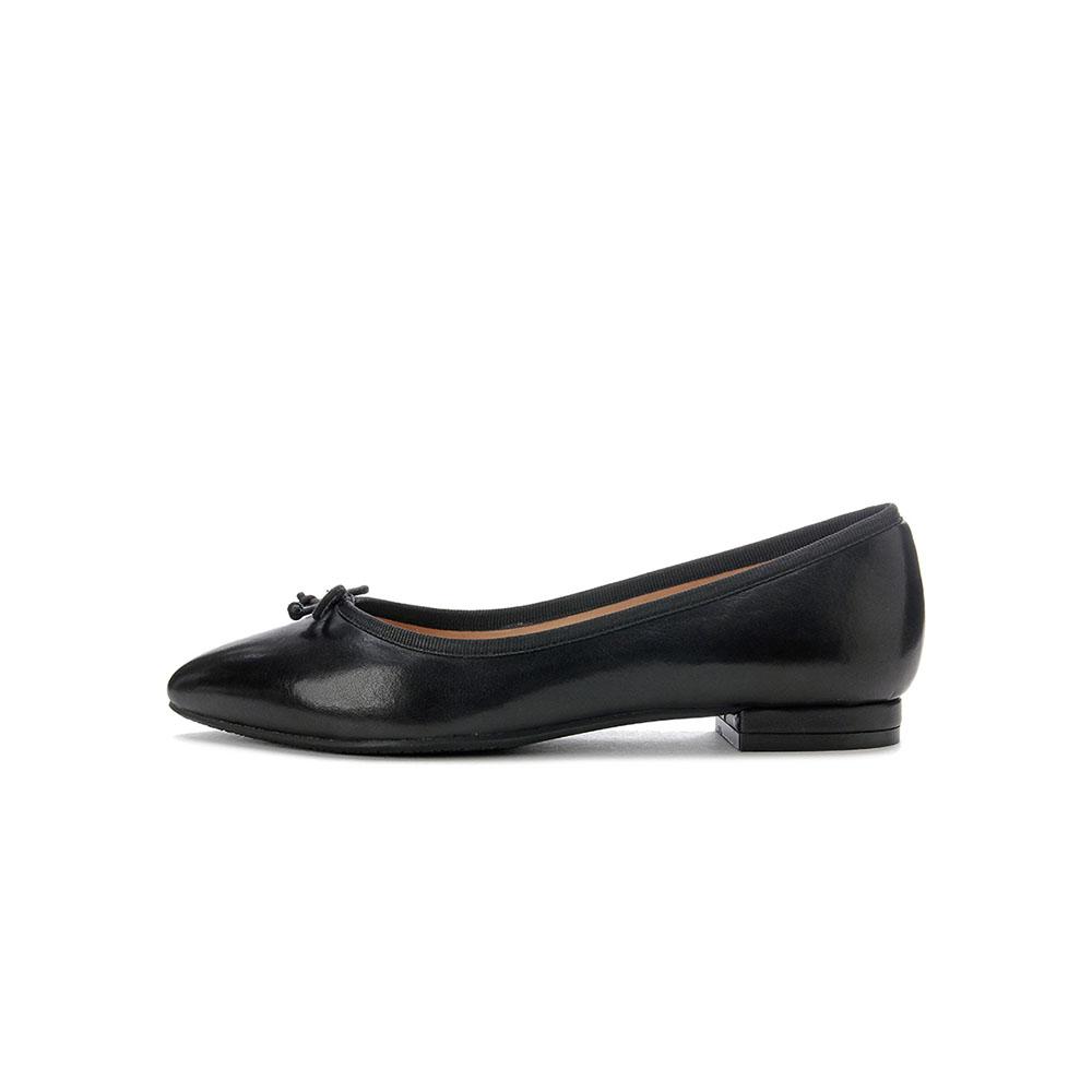 LisaVicky浪漫芭蕾舞平底鞋-黑色