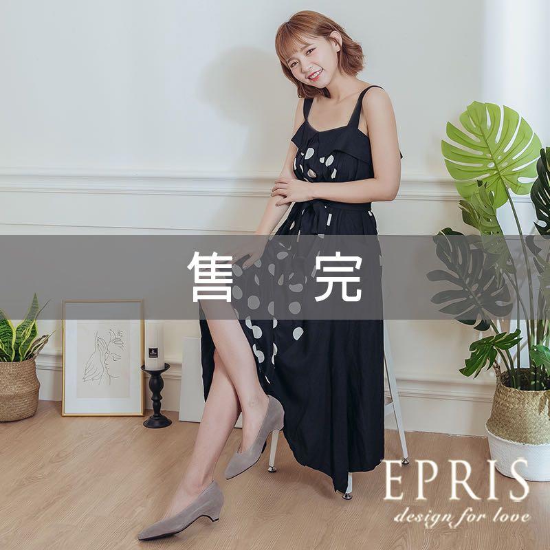 现货 低跟大尺码鞋尖头鞋灰色ol鞋 经典酒杯跟 低跟素面鞋上班鞋 EPRIS艾佩丝-时尚灰