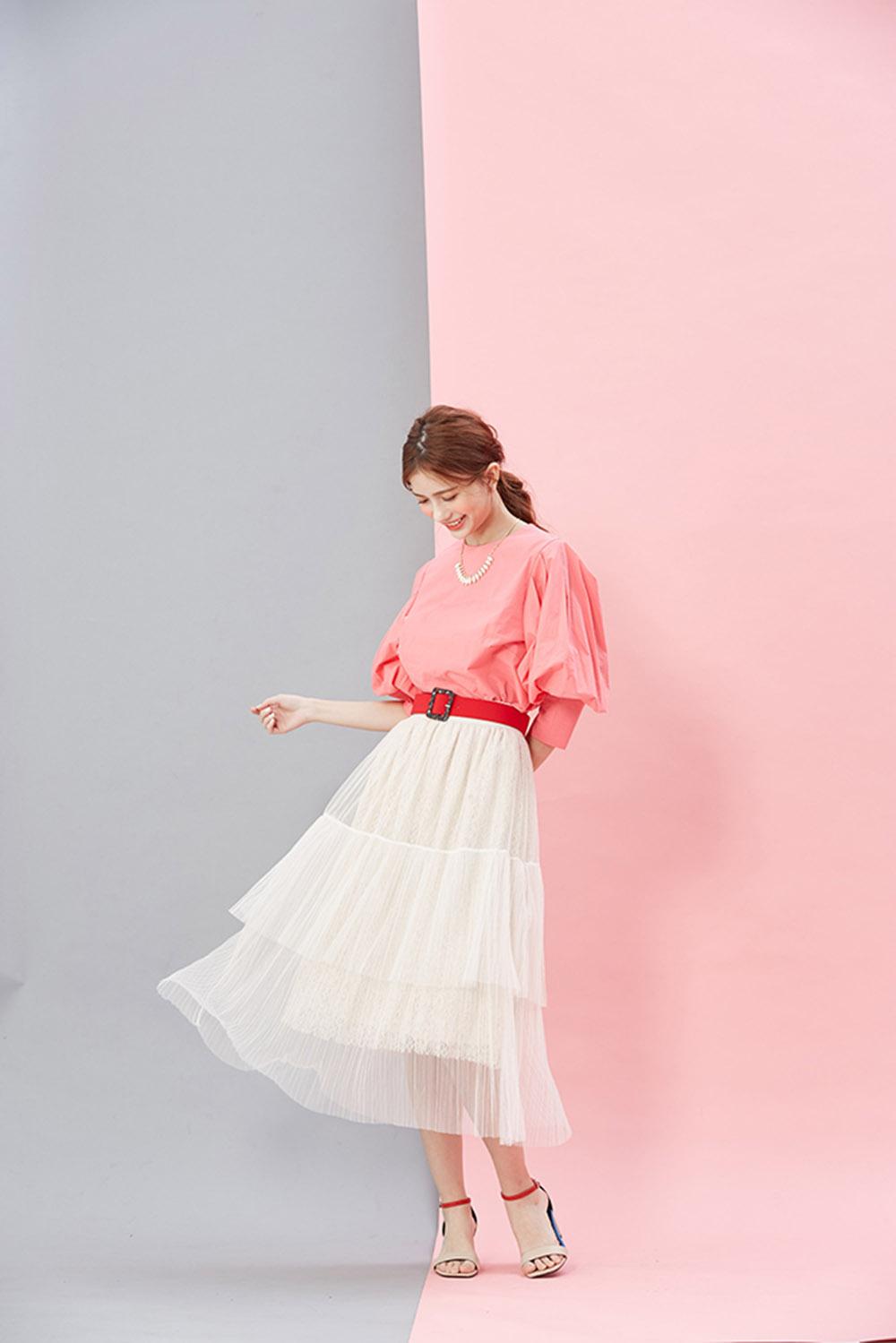 8SS005 蕾丝网纱多层次纱裙