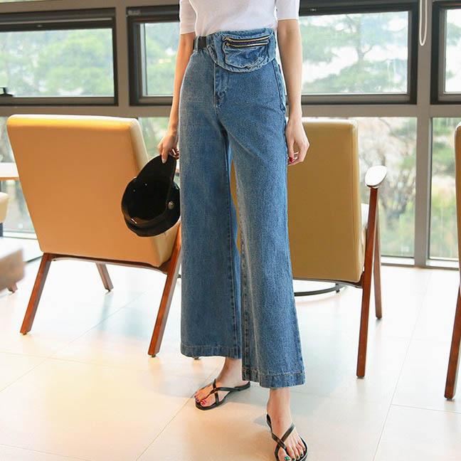 DABAGIRL 牛仔宽松长裤 (韩国女装) 【DB52085】