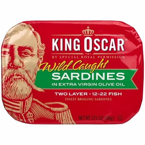 King Oscar橄榄油沙丁鱼105g