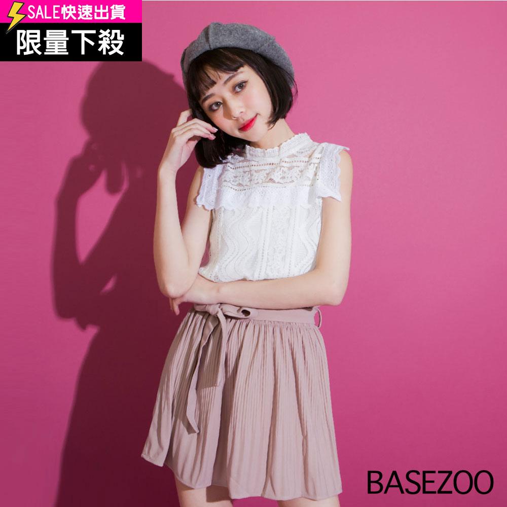 (现货A) 套装两件式-蕾丝背心+小可爱(白)-贝思奇【S660407】