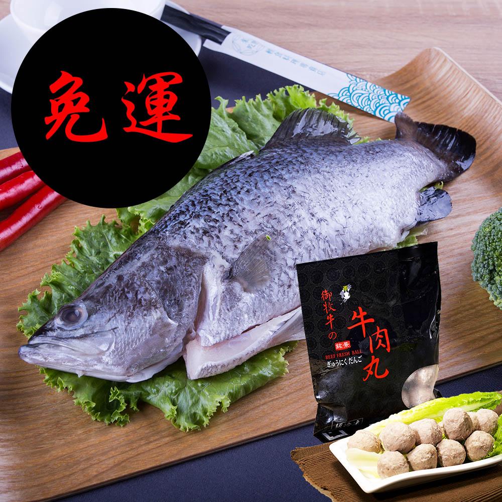 海天使 全鱼+牛肉丸组 免运费