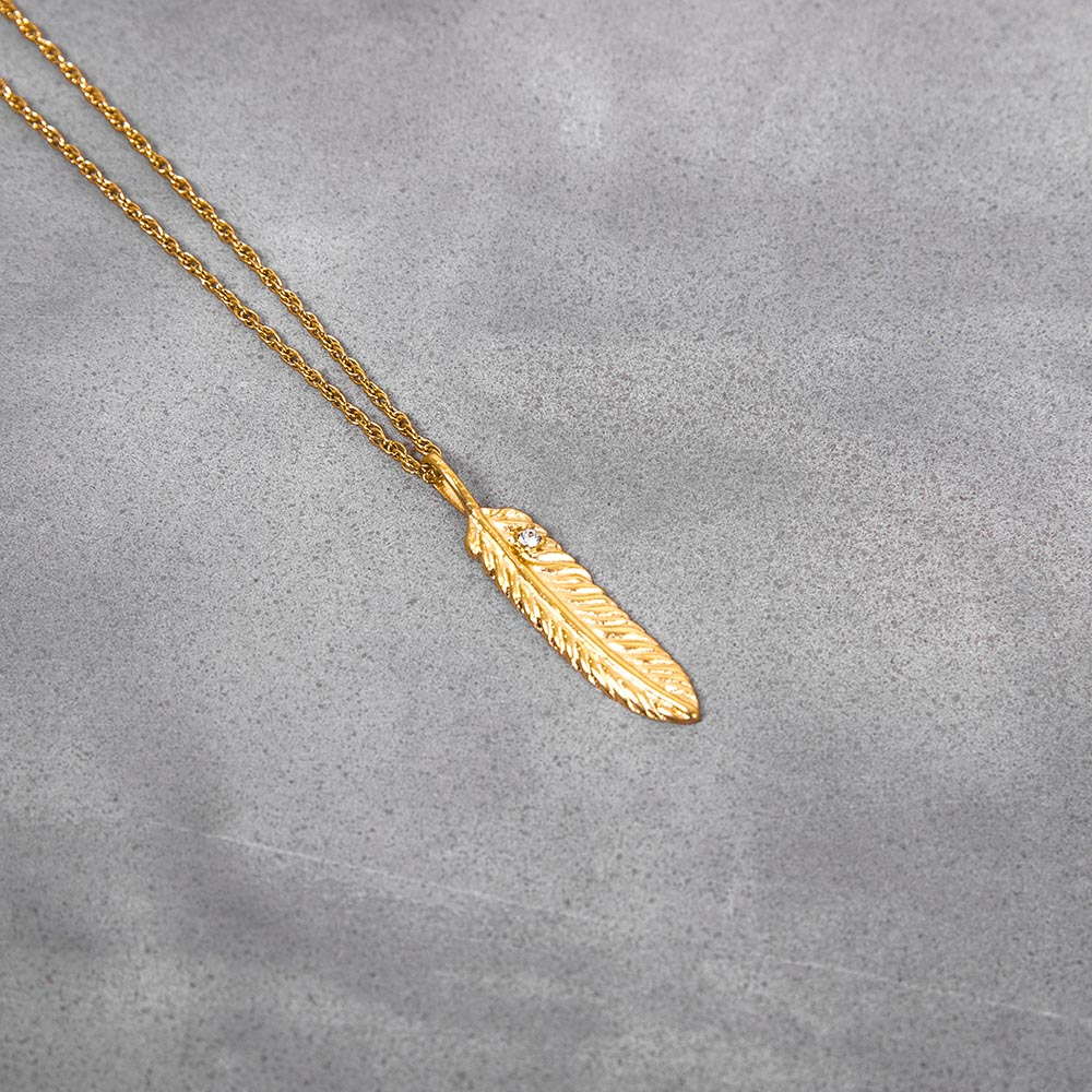 Mister Quill Necklace Gold 叶片金项鍊