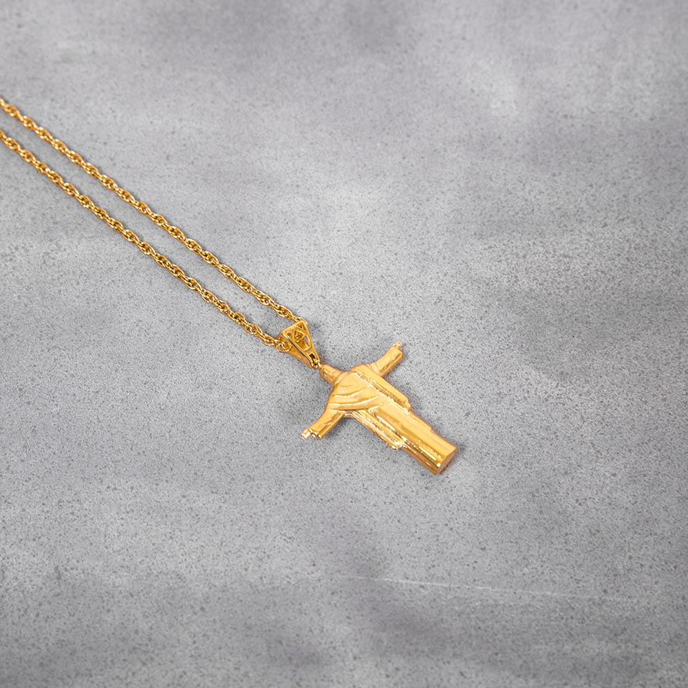 Mister Redeemer Necklace Gold 圣母金项鍊