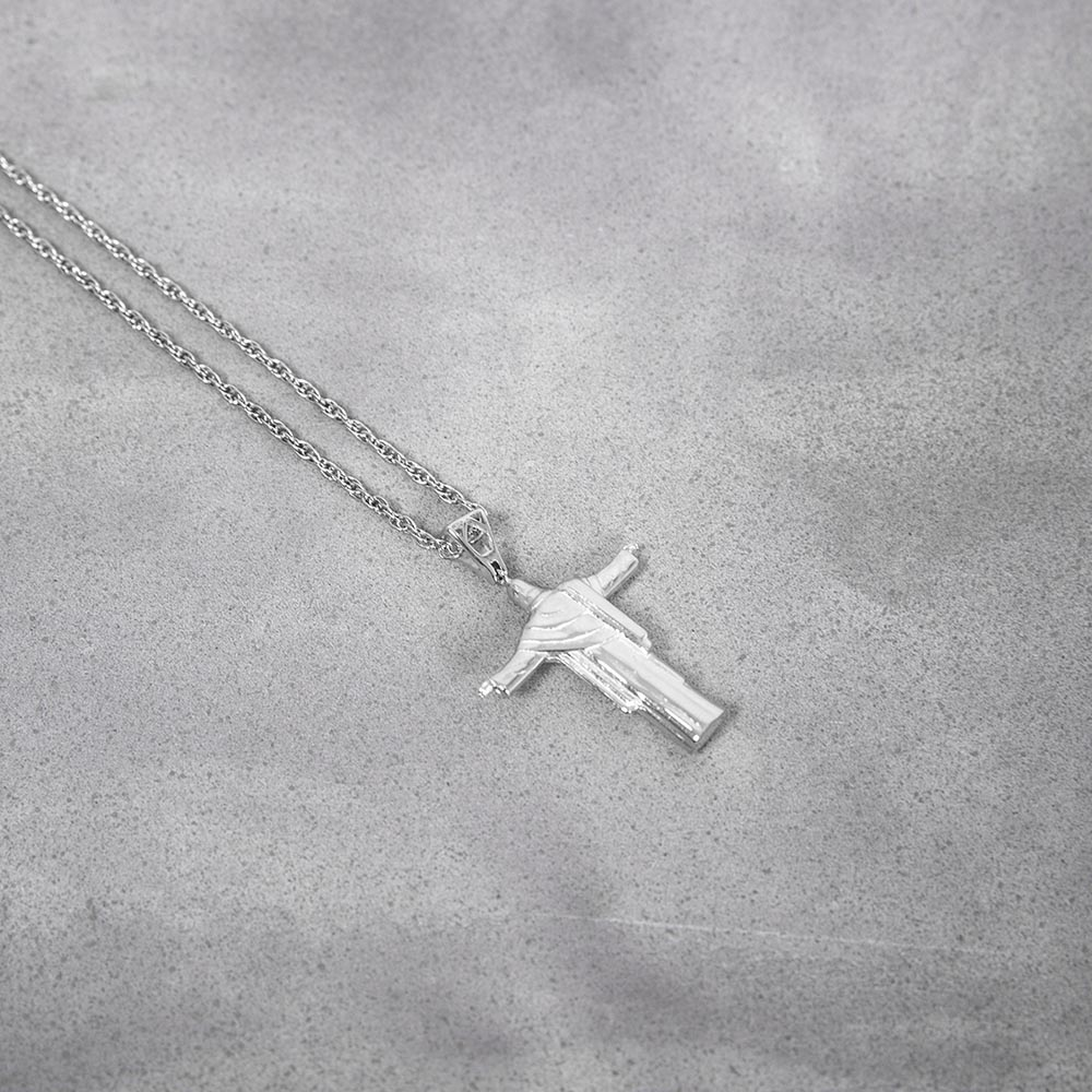 Mister Redeemer Necklace Chrome 圣母银项鍊