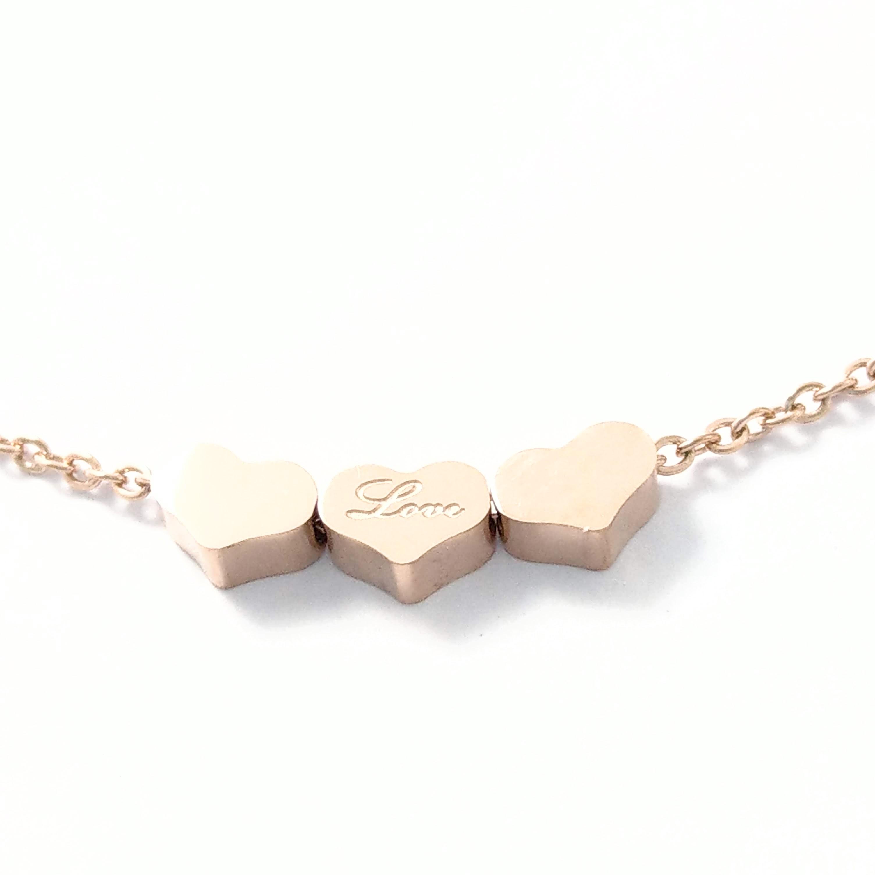 正韩爱心造型love字母刻印钢鍊