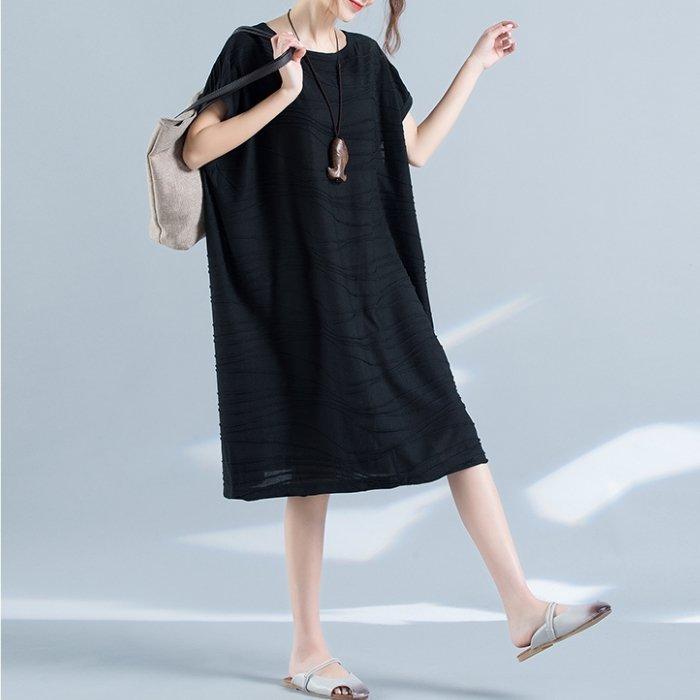 *漂亮小妈咪*韩国 简约 宽松 短袖 长裙 孕妇装 孕妇 长洋装 孕妇 加大尺码 D7952