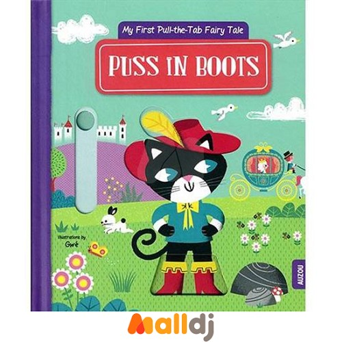 【Malldj亲子购物网】AUZOU  穿靴子的猫 推拉硬页书 #PBD9610028614200
