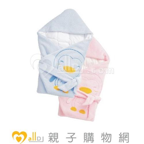~MallDJ親子 網~藍色企鵝 PUKU Petit PUKU 暖暖包巾~粉色~ ^#P