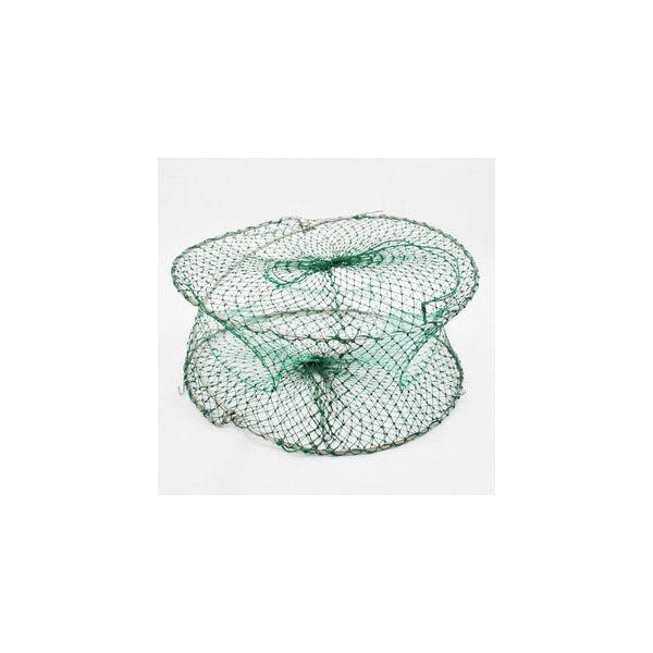 折疊式螃蟹籠 蝦籠 魚籠 三孔立式捉蟹工具