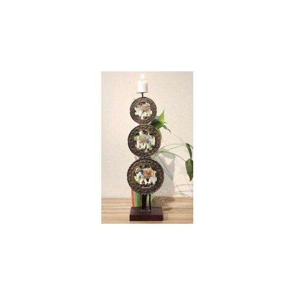 家居裝飾品 疊羅漢大象燭台 擺設 擺件 擺飾
