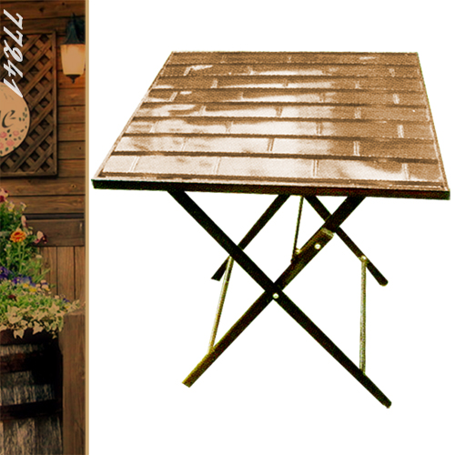 ~好動網~60cm鋁製竹節正方折合桌P020~77241^( 折疊方型茶几 置物摺疊桌 洽