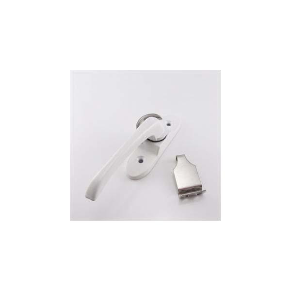 月牙鎖 鋁合金門窗月牙鎖 塑鋼門窗月牙鎖 鎖扣 豪華加長款(白)