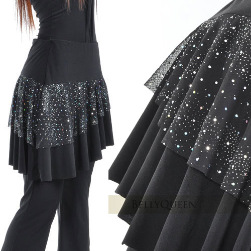~好動網~俏麗甜美層次褲裙E331~P0019^(表演服飾演出服飾舞蹈服飾肚皮舞腰鍊肚皮舞