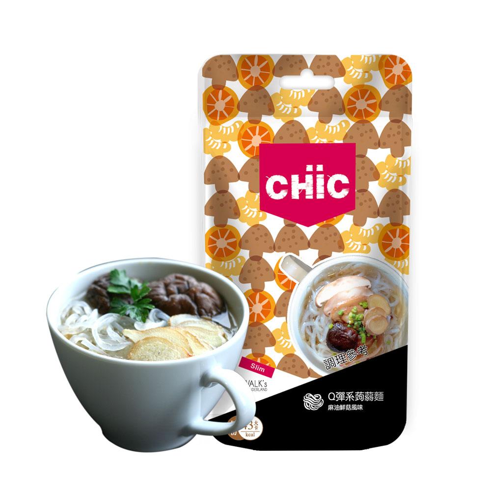 CHiC Q彈系蒟蒻麵-麻油鮮菇風味(2包/共6餐份)