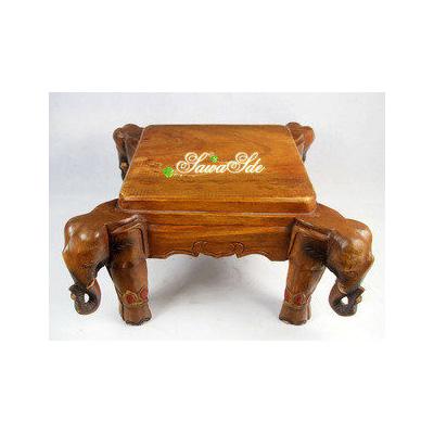 特色木雕大象小茶幾 實木桌子 仿古家居
