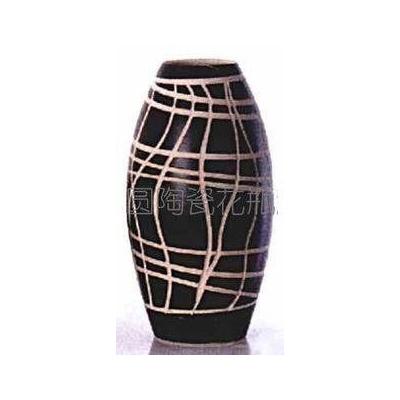 陶藝真花花瓶 田園系列 雕刻 亂線條裝飾 景德鎮陶瓷工藝品