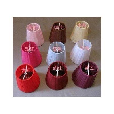 蠟燭水晶吊燈布藝燈罩 紗布罩多色^~2個