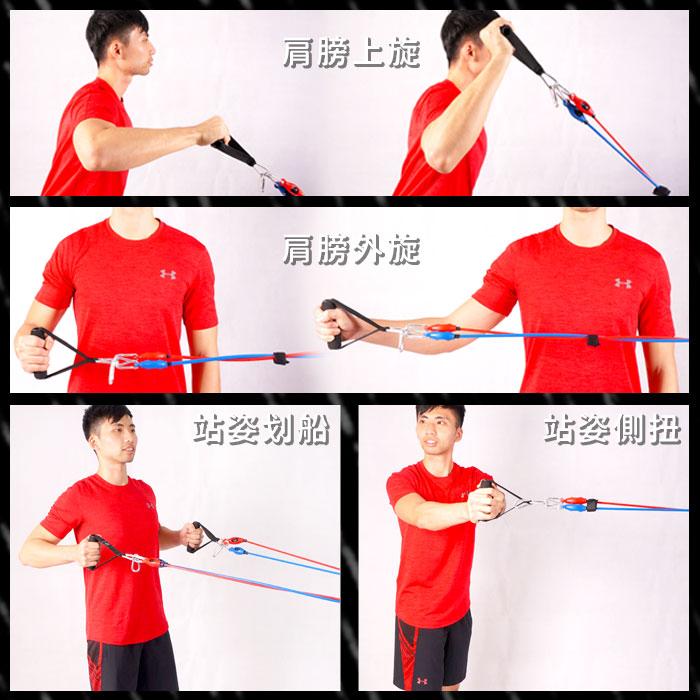 全方位肌力教練彈力繩(3條活動式)(彈力帶/拉力帶/拉力繩) FunSport