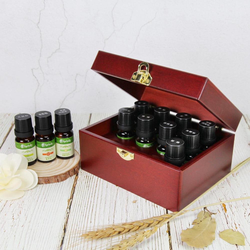 十二格精油木盒-胡桃