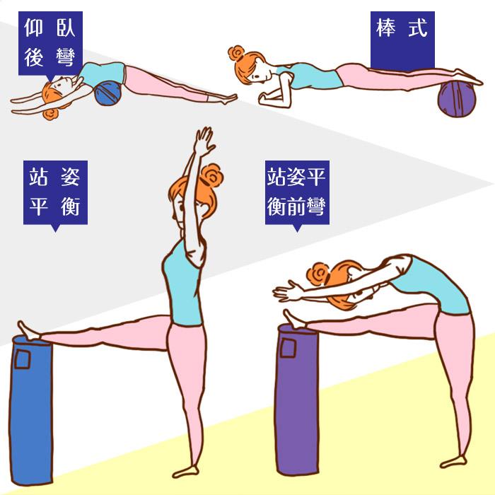 圓柱形瑜珈枕的用法!