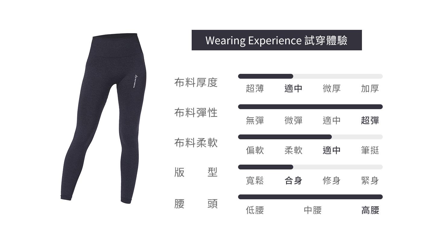 高彈無縫塑型褲-黑色