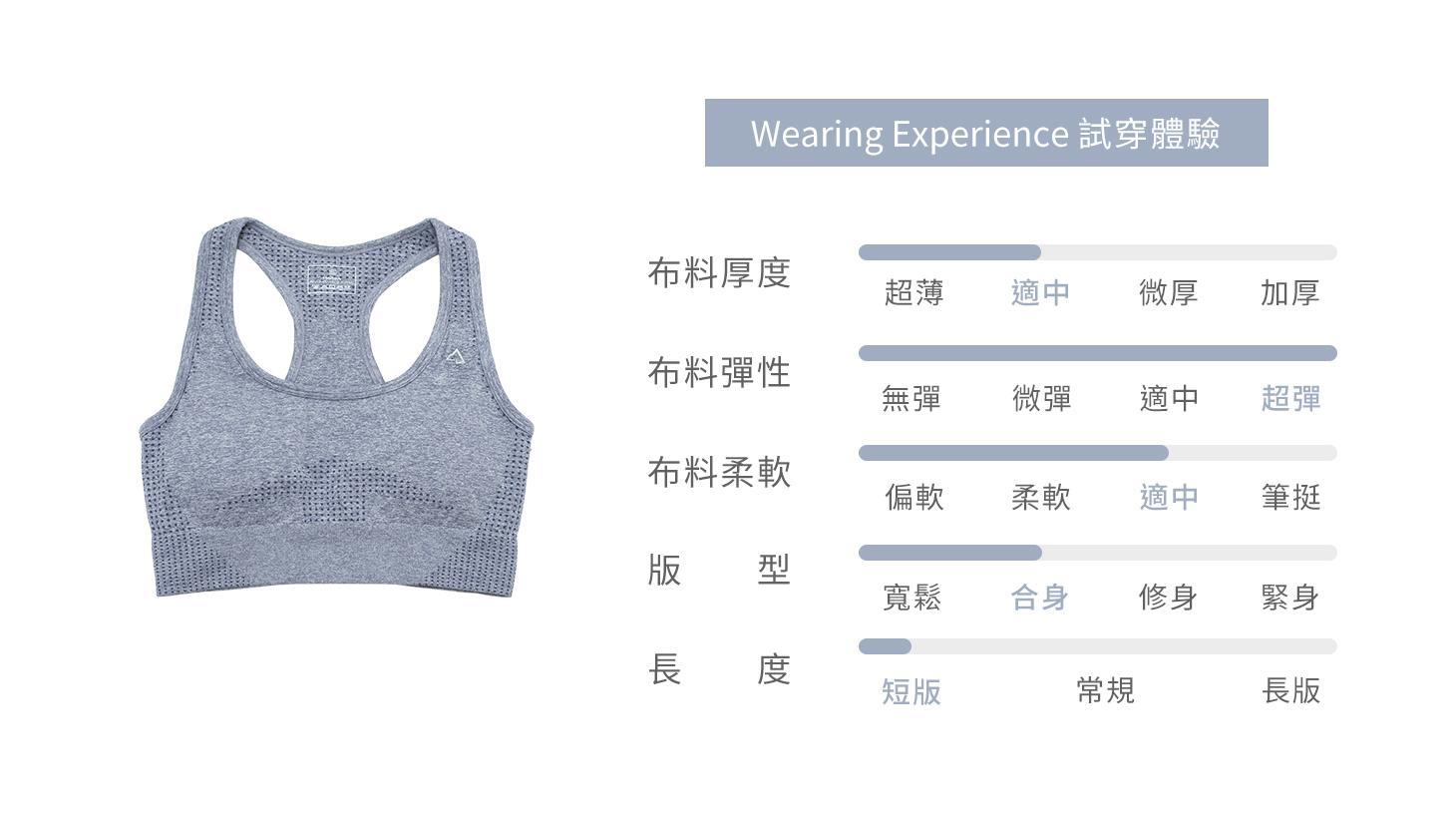 高包覆無縫運動內衣-淺藍