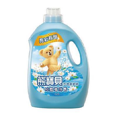 熊寶貝衣物柔軟精沁藍海洋香3.2L