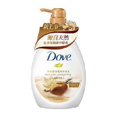 多芬豐盈寵愛沐浴乳 - 乳木果與暖香草 750ML