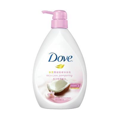多芬豐盈寵愛沐浴乳 - 椰乳與蔓茉莉750ML