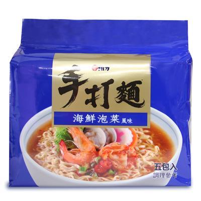 【維力】手打麵 海鮮泡菜風味80g*5入