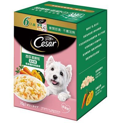 西莎 蒸鮮包成犬低脂雞肉與蔬菜 6入裝