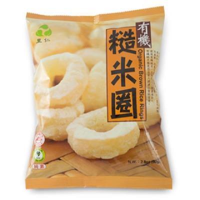 【里仁】有機糙米圈 80g/包