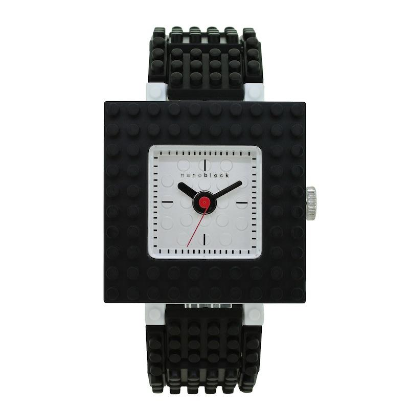 【nanoblock】日本河田積木中性錶 黑框銀面(WA06)