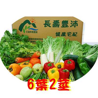 【花蓮壽豐鄉農會】有機蔬菜箱(葉菜6樣+瓜果根莖2樣)-宅配