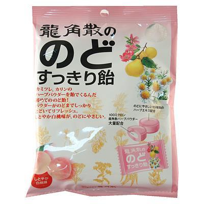 日本代購【日本龍角散喉糖】水蜜桃口味(10包入)