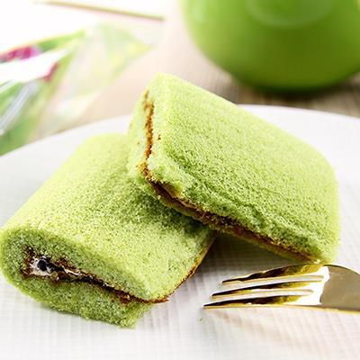 【日新堂】抹茶紅豆蛋糕捲