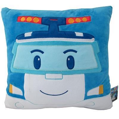 【POLI 波力】藍/12吋/波力抱枕/方枕