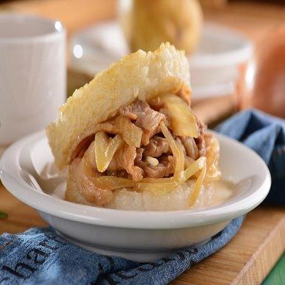 【喜生】洋蔥豬肉米漢堡