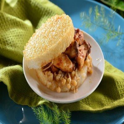 【喜生】素沙茶鮮菇米漢堡