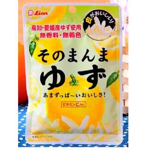 日本代購【ライオン菓子】柚子皮絲糖