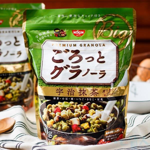 【吃貨人】~大份量版~日清 宇治抹茶早餐餅 500g