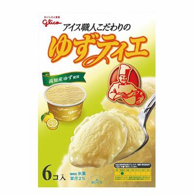 【冷凍店取】【格力高】格力高Tie職人柚子風味冰淇淋家庭號(12杯)