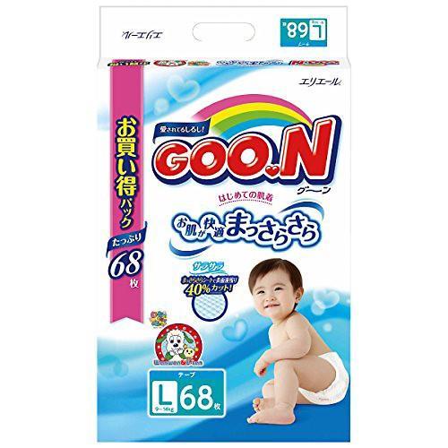 【Goo.N日本大王】日本境內NHK阿福狗版紙尿褲-黏貼型(L-68片*3包入 )