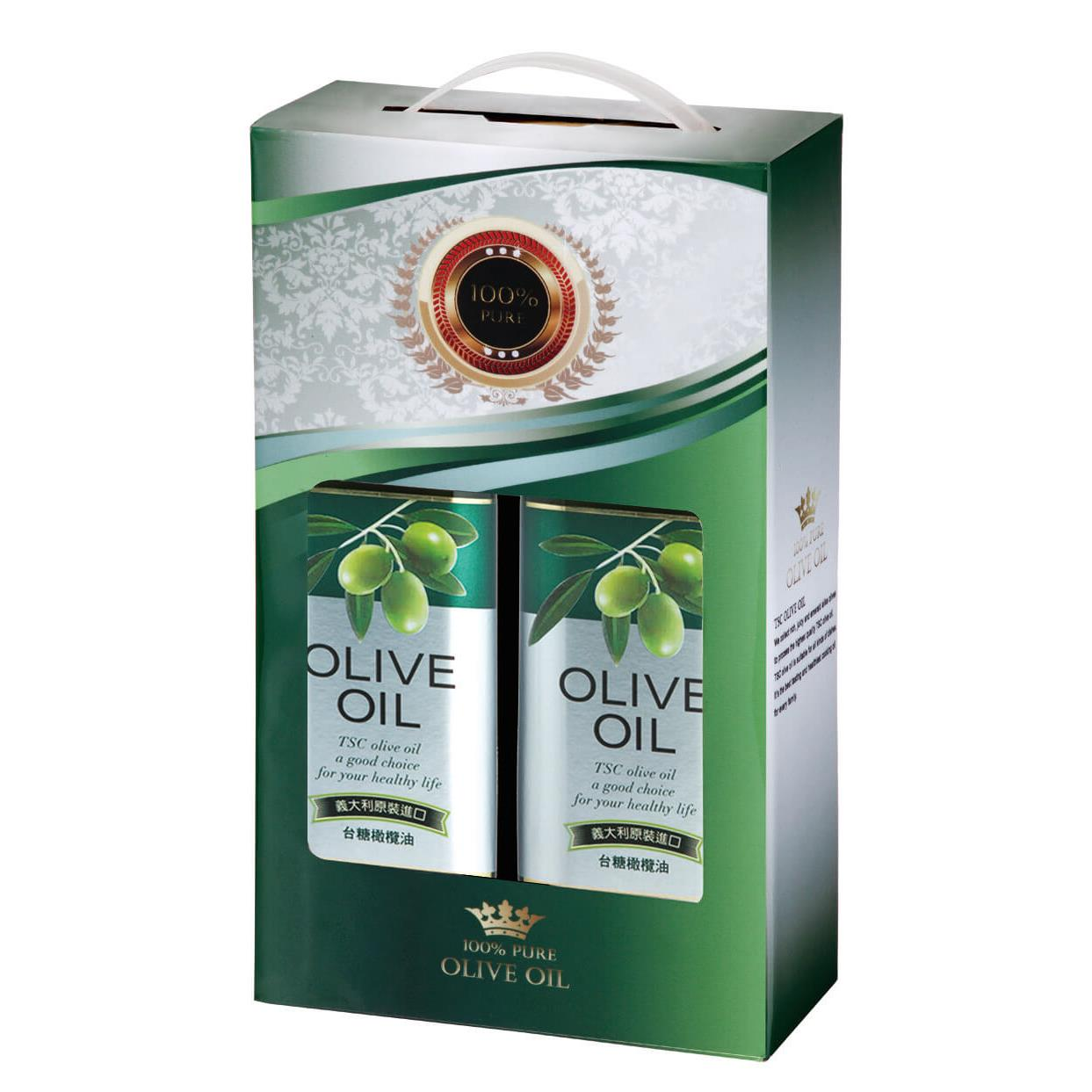 【台糖】橄欖油禮盒 (1公升x2瓶)